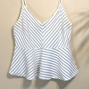 Forever 21 Striped Peplum Camisole